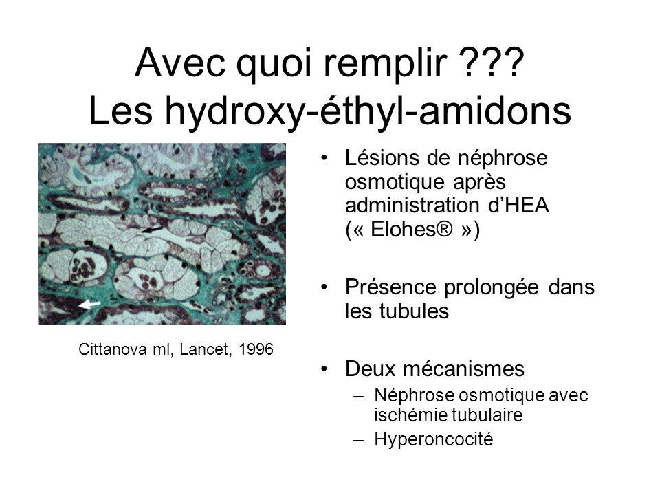 Avec quoi remplir Les hydroxy-éthyl-amidons