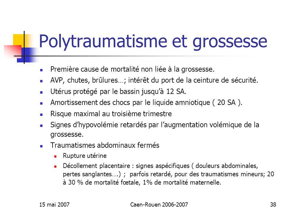 Polytraumatisme et grossesse