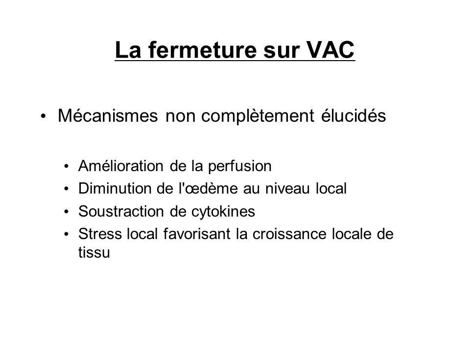 La fermeture sur VAC Mécanismes non complètement élucidés
