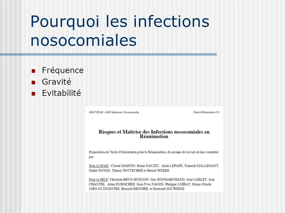 Pourquoi les infections nosocomiales