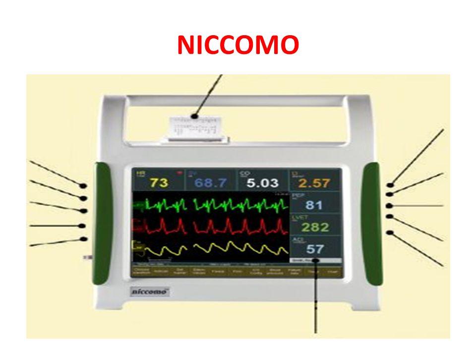 NICCOMO En cardiographie par impédance, les variations des pulsations synchrones du flux.