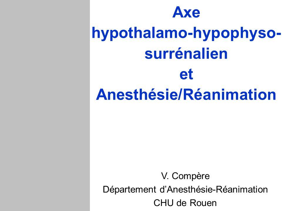 Axe hypothalamo-hypophyso- surrénalien et Anesthésie/Réanimation