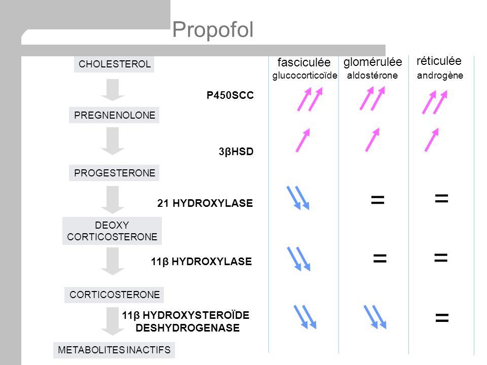 = = = = = Propofol fasciculée glomérulée réticulée P450SCC 3βHSD