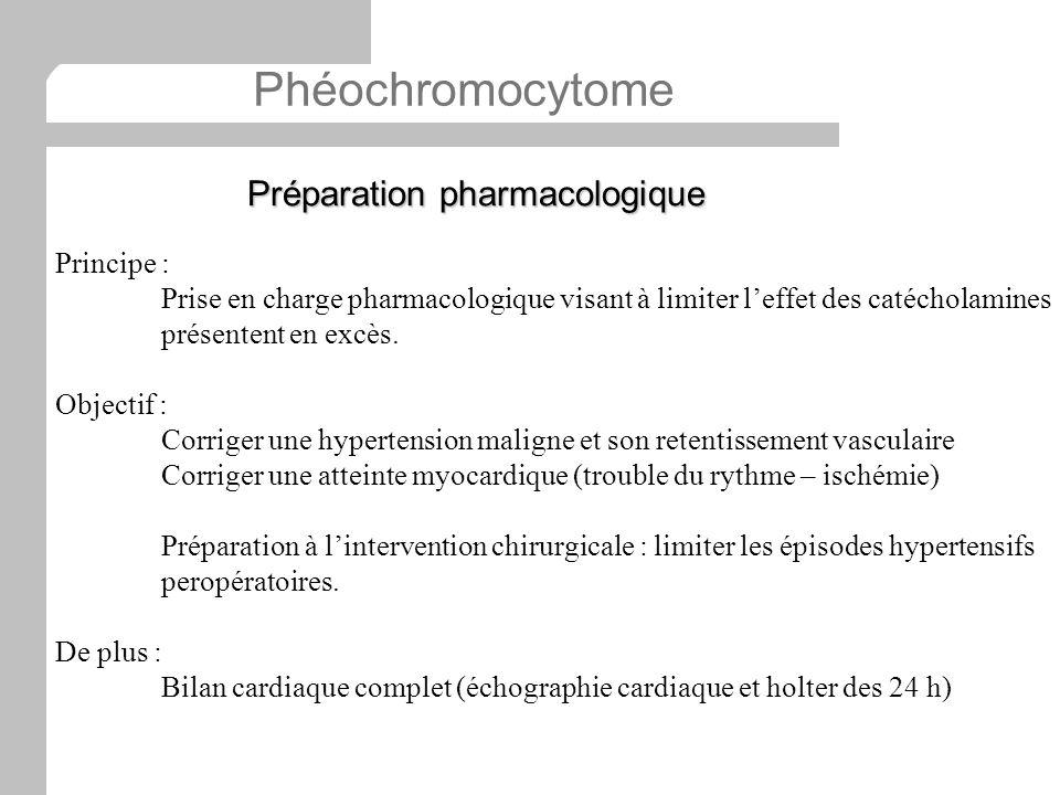 Phéochromocytome Préparation pharmacologique Principe :
