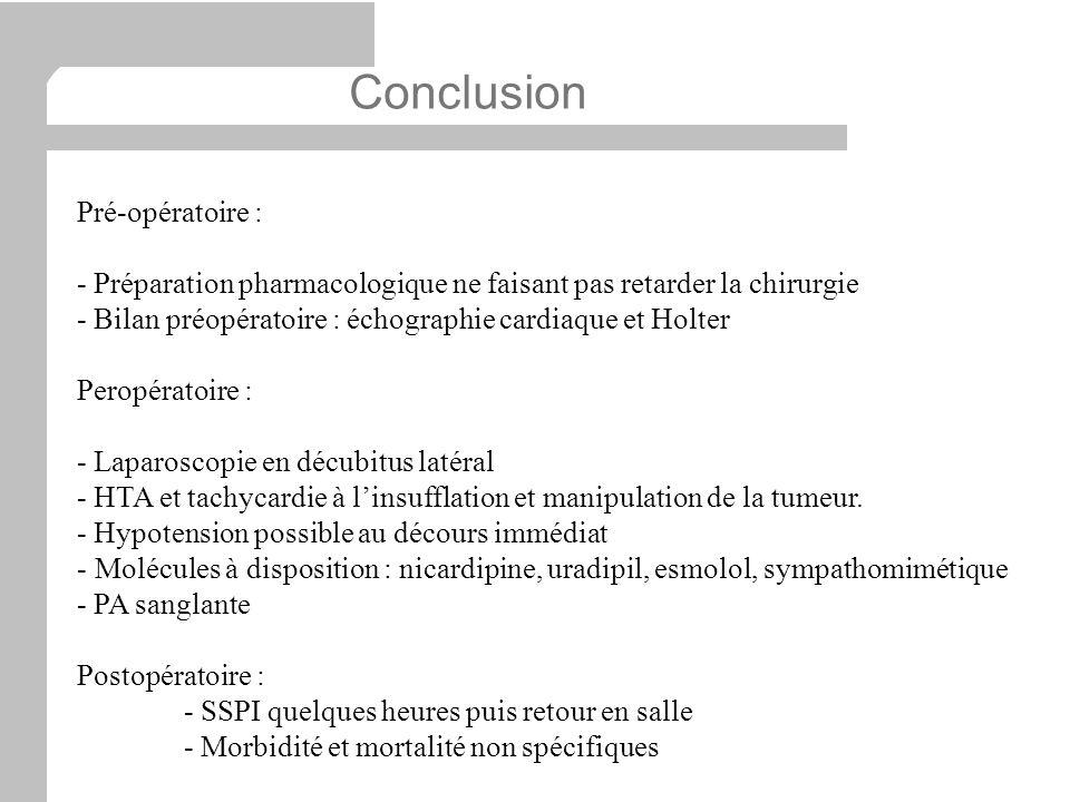 Conclusion Pré-opératoire :