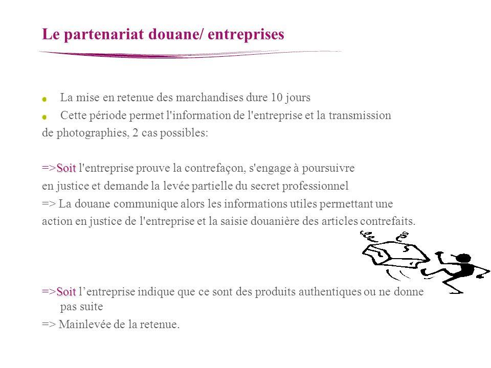 Le partenariat douane/ entreprises