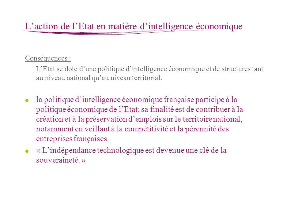L'action de l'Etat en matière d'intelligence économique