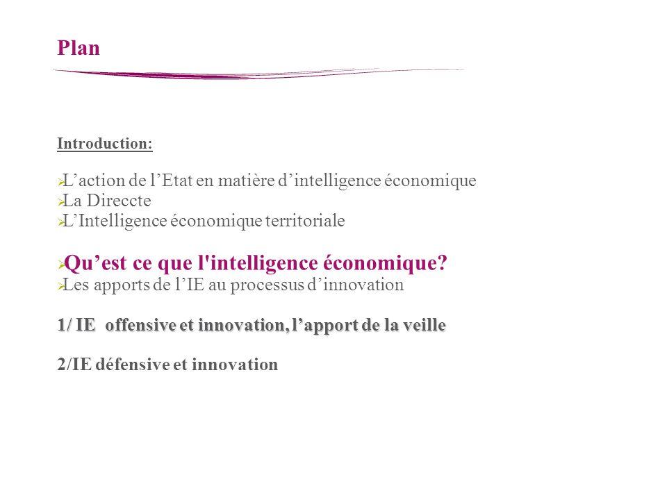 Qu'est ce que l intelligence économique