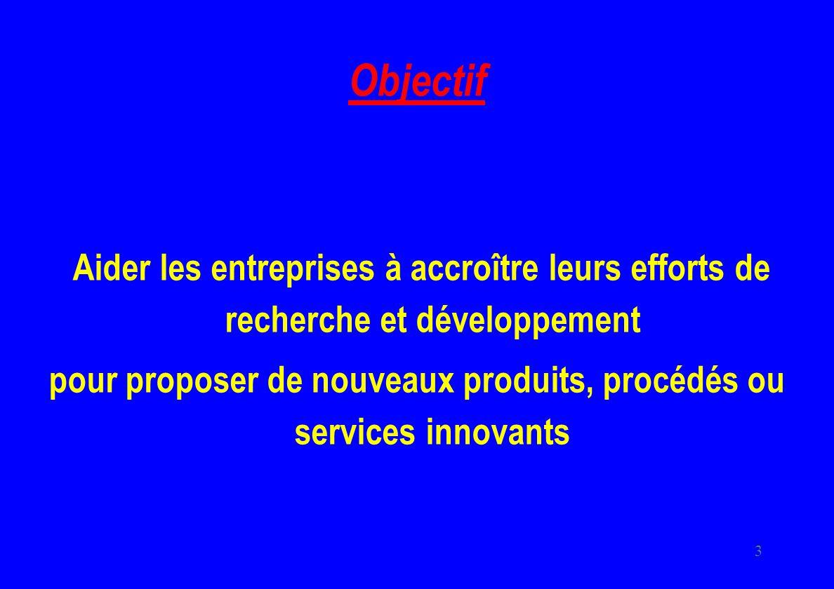 pour proposer de nouveaux produits, procédés ou services innovants