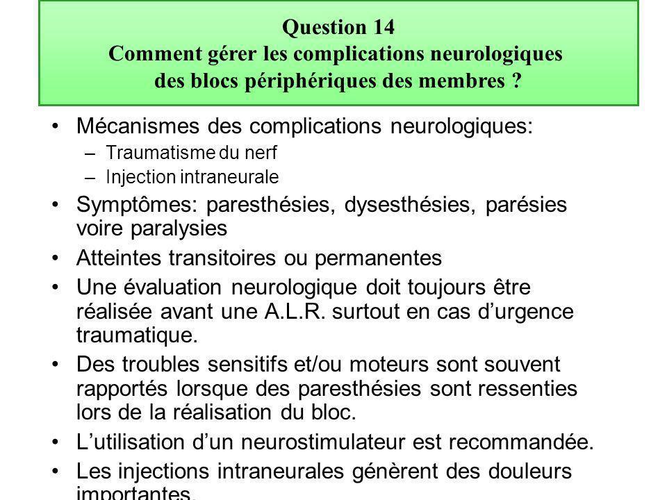 Comment gérer les complications neurologiques
