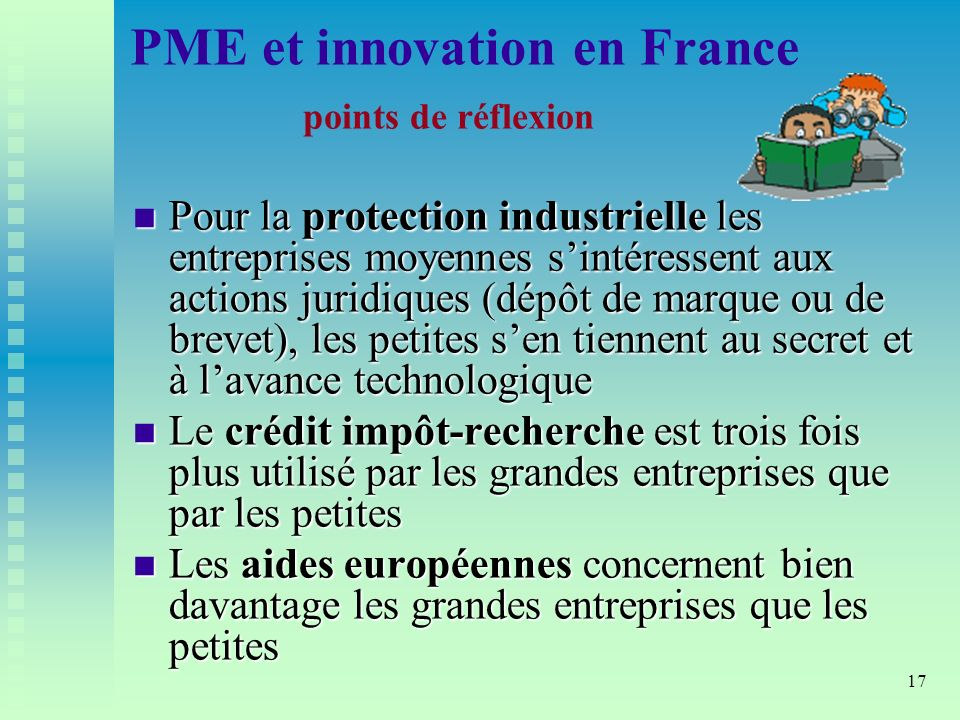 PME et innovation en France points de réflexion