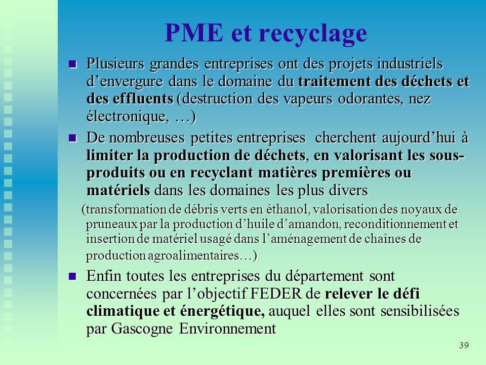 PME et recyclage