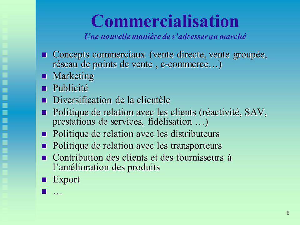 Commercialisation Une nouvelle manière de s'adresser au marché