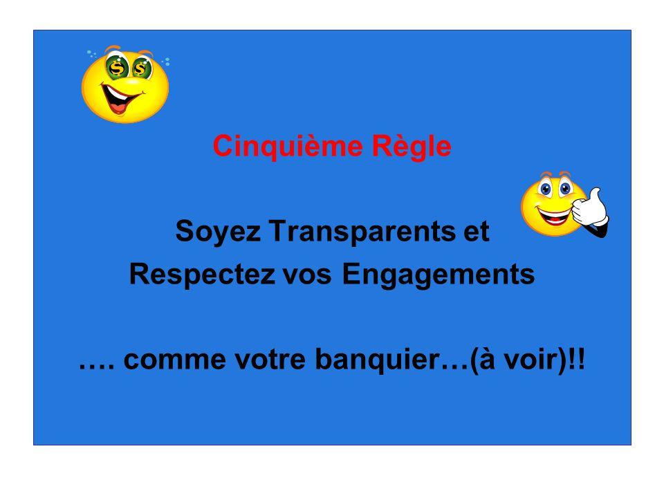 Respectez vos Engagements …. comme votre banquier…(à voir)!!