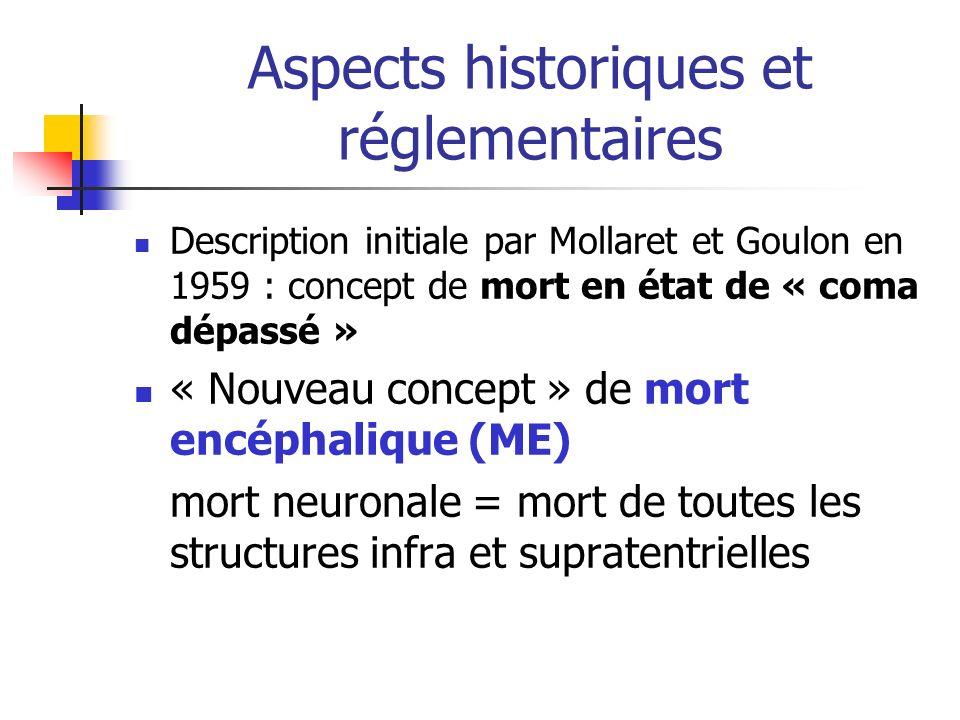 Aspects historiques et réglementaires