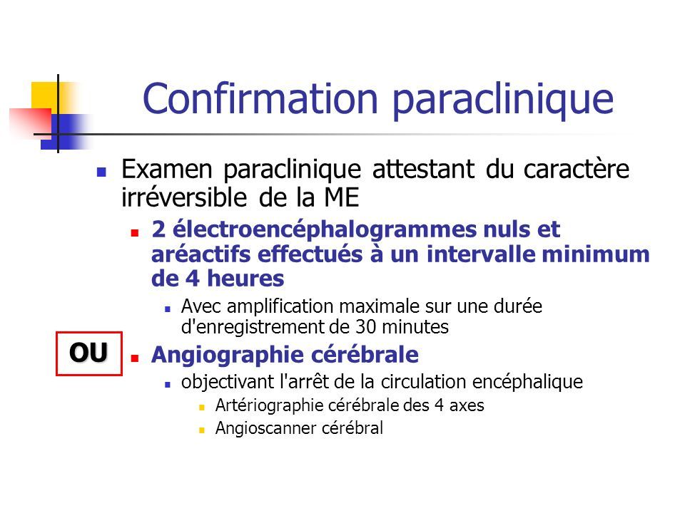 Confirmation paraclinique