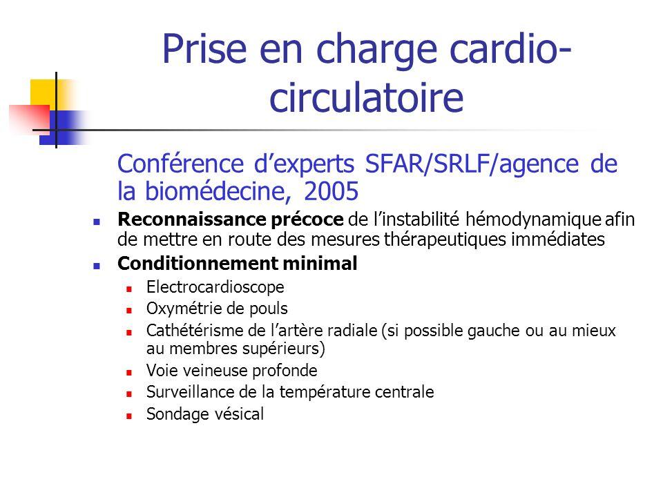 Prise en charge cardio-circulatoire