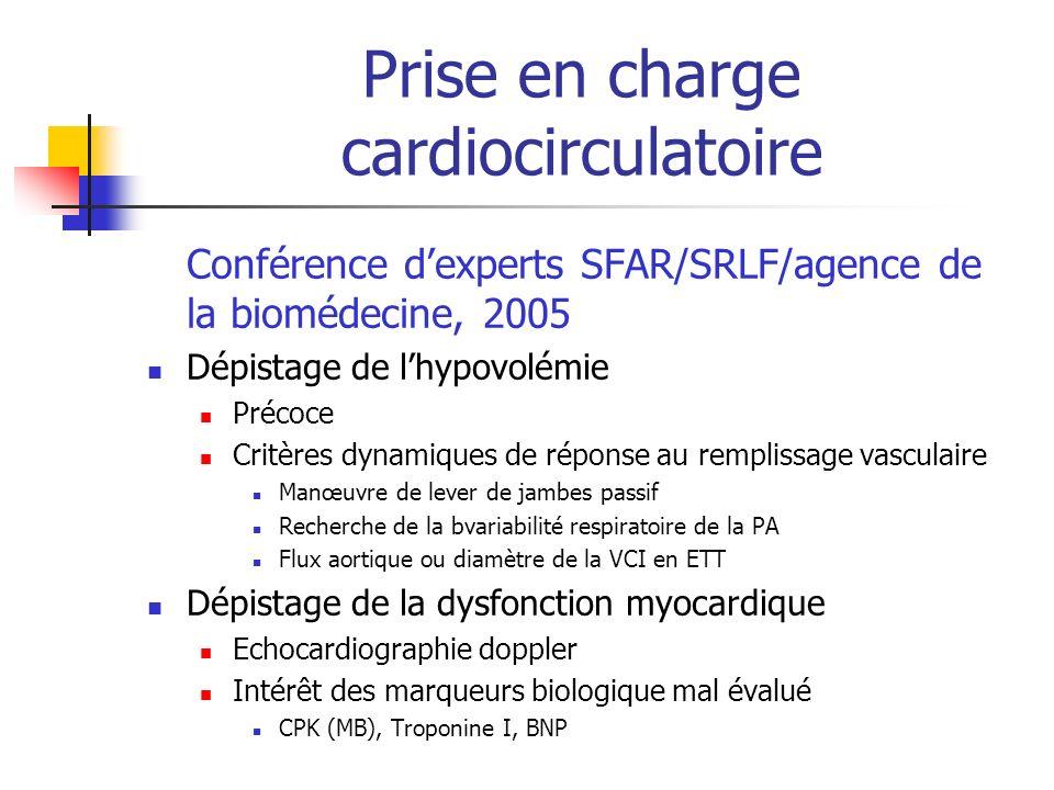 Prise en charge cardiocirculatoire