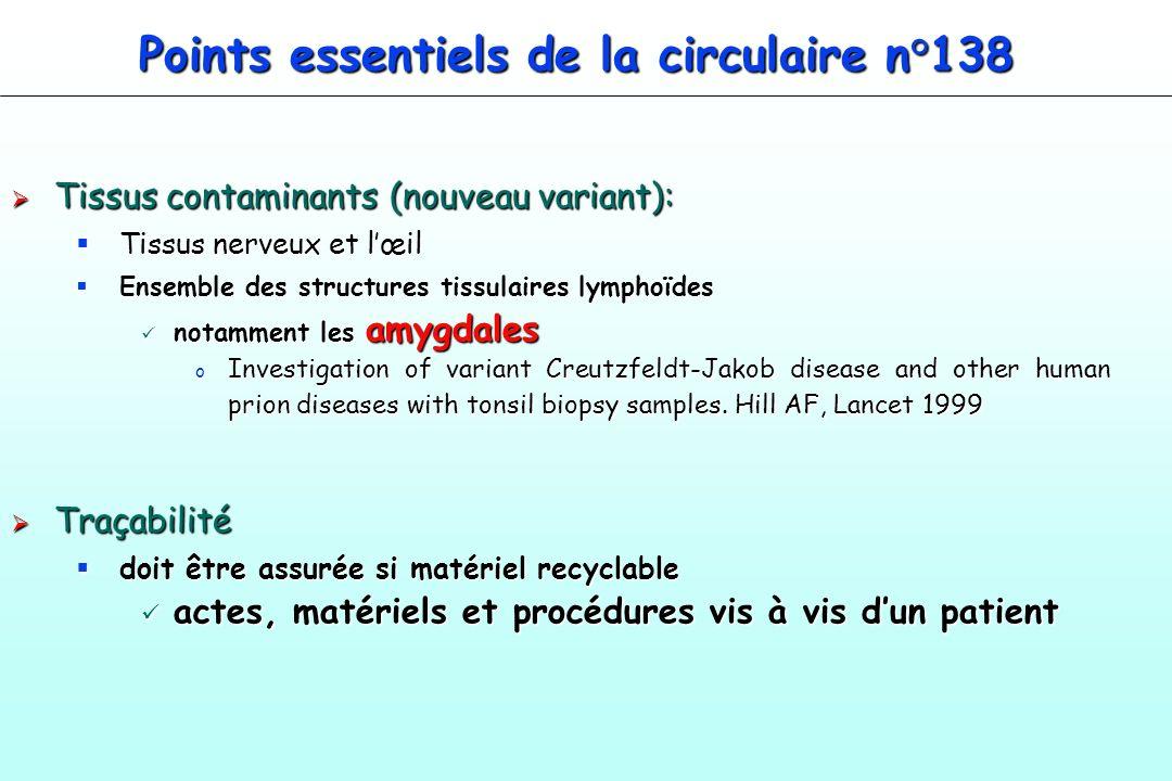 Points essentiels de la circulaire n°138