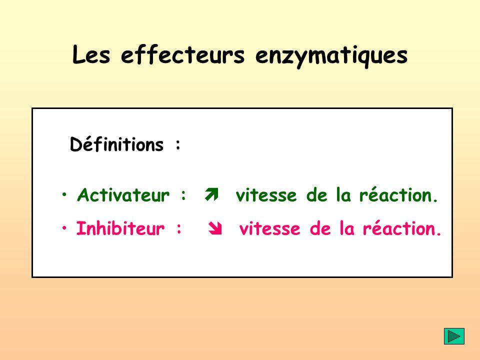 Les effecteurs enzymatiques