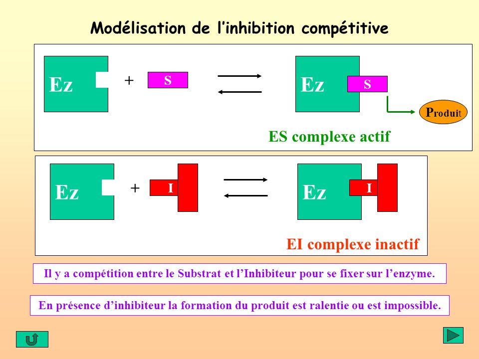 Modélisation de l'inhibition compétitive