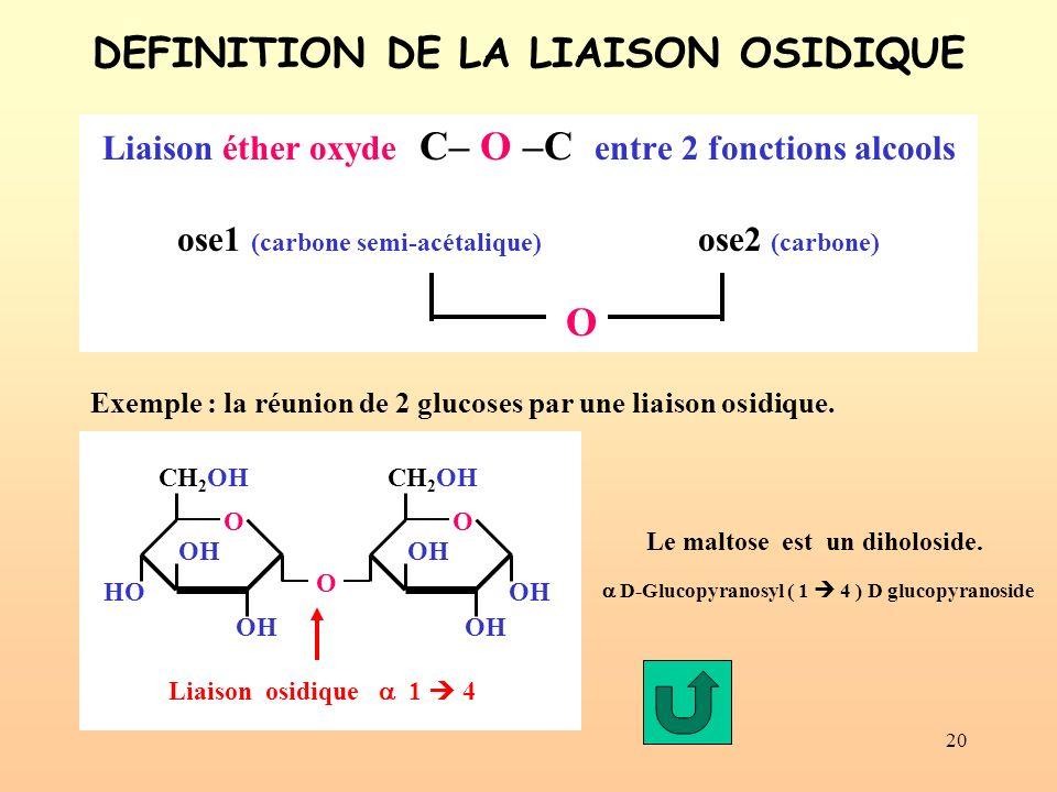 DEFINITION DE LA LIAISON OSIDIQUE