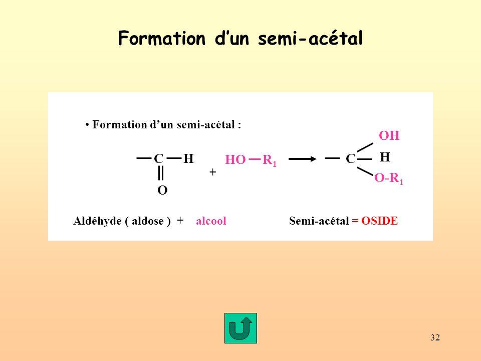 Formation d'un semi-acétal