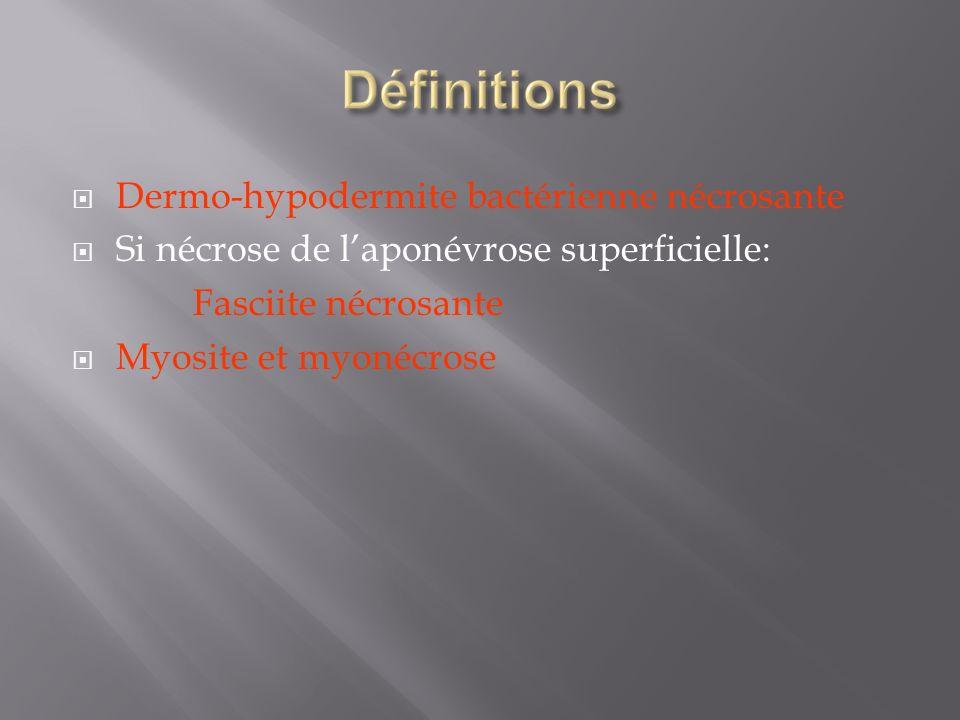 Dermo-hypodermite bactérienne nécrosante
