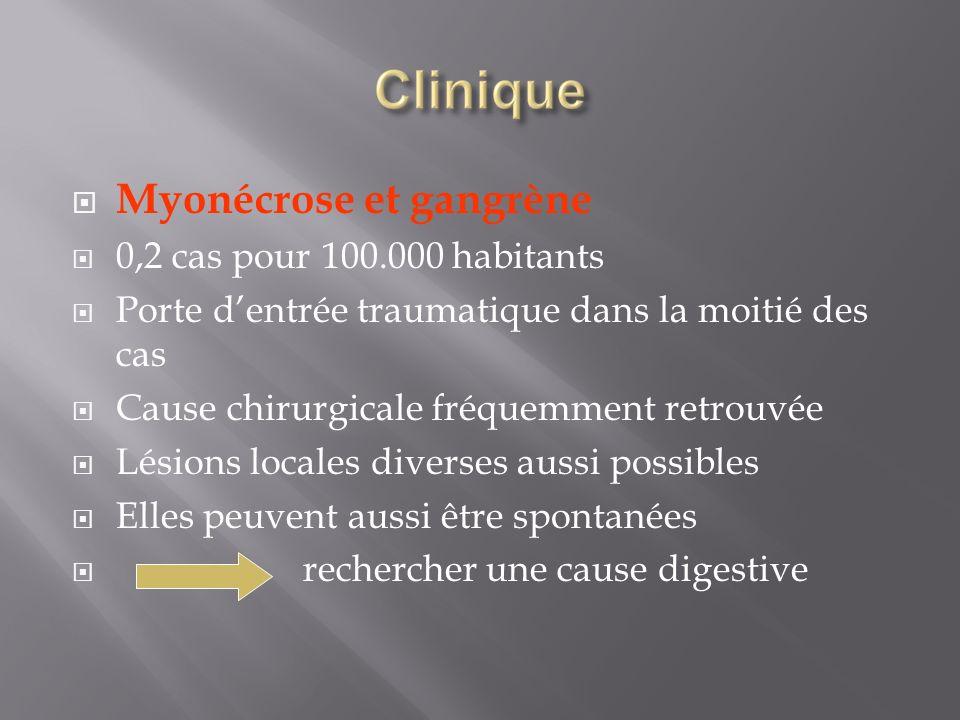 Myonécrose et gangrène