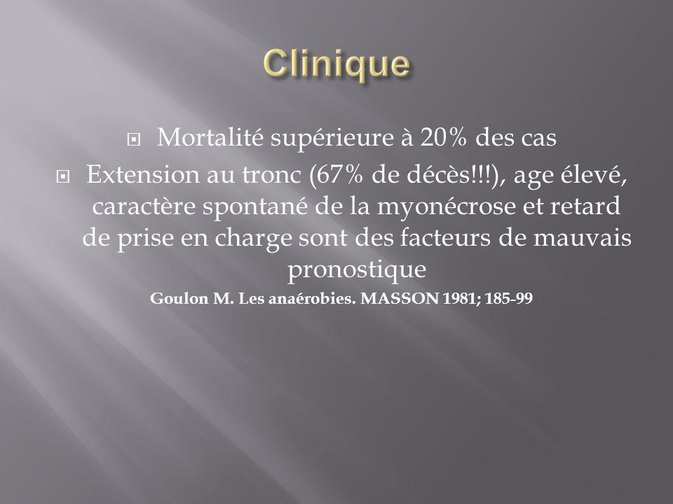 Goulon M. Les anaérobies. MASSON 1981; 185-99
