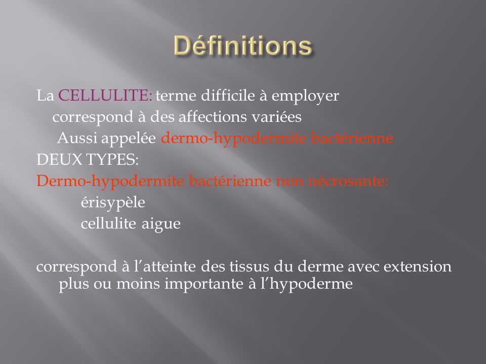 La CELLULITE: terme difficile à employer