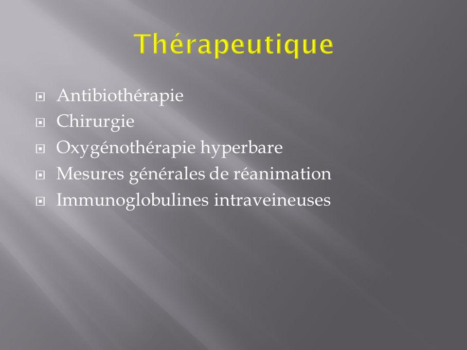 Thérapeutique Antibiothérapie Chirurgie Oxygénothérapie hyperbare
