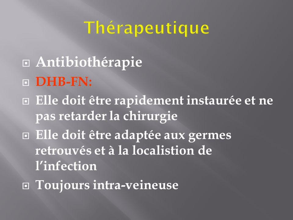 Thérapeutique Antibiothérapie DHB-FN: