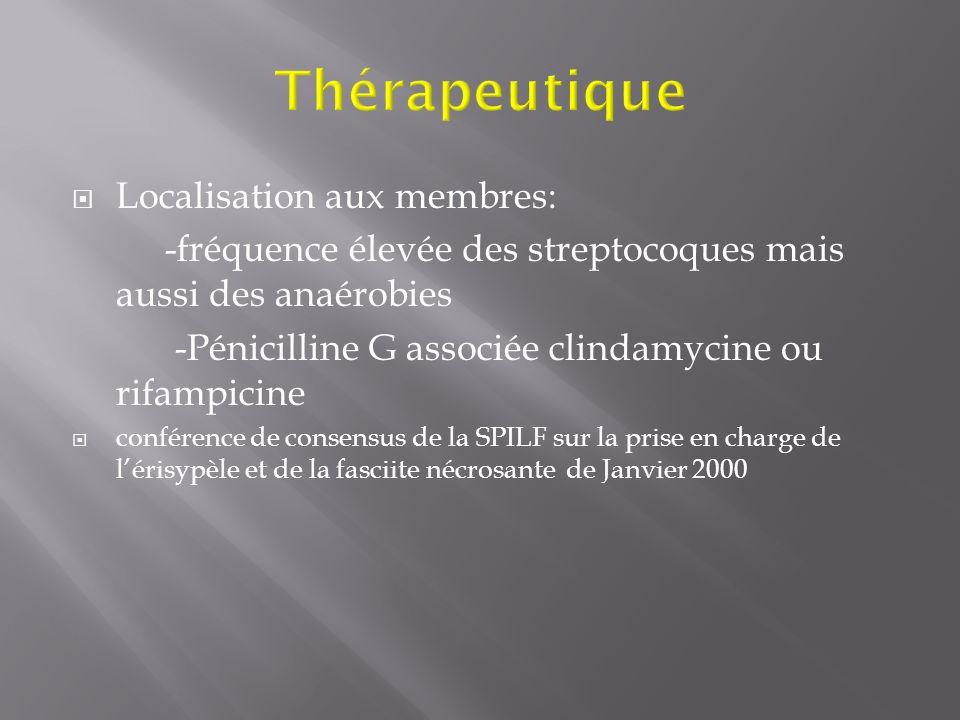 Thérapeutique Localisation aux membres: