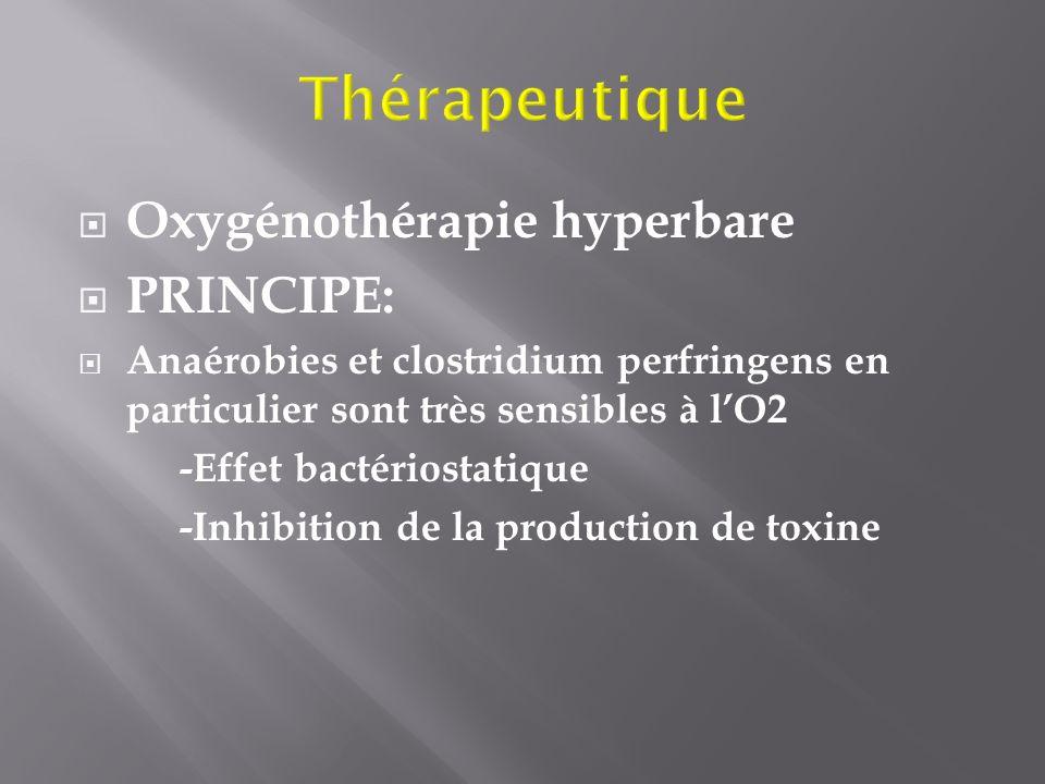 Thérapeutique Oxygénothérapie hyperbare PRINCIPE: