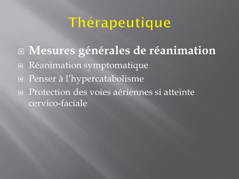 Thérapeutique Mesures générales de réanimation