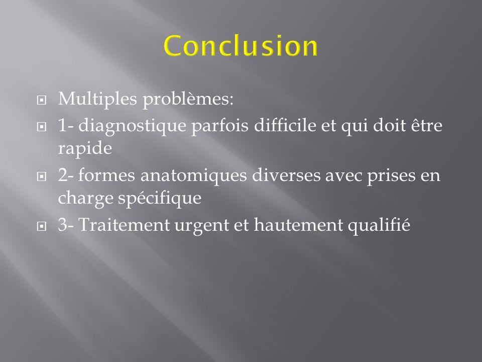 Conclusion Multiples problèmes: