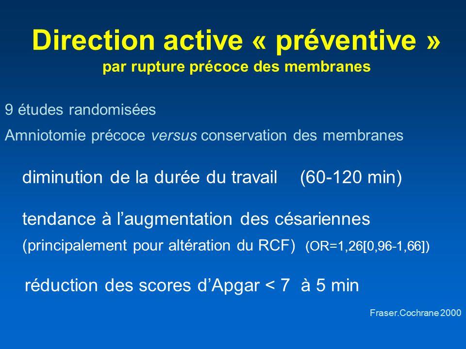 Direction active « préventive » par rupture précoce des membranes