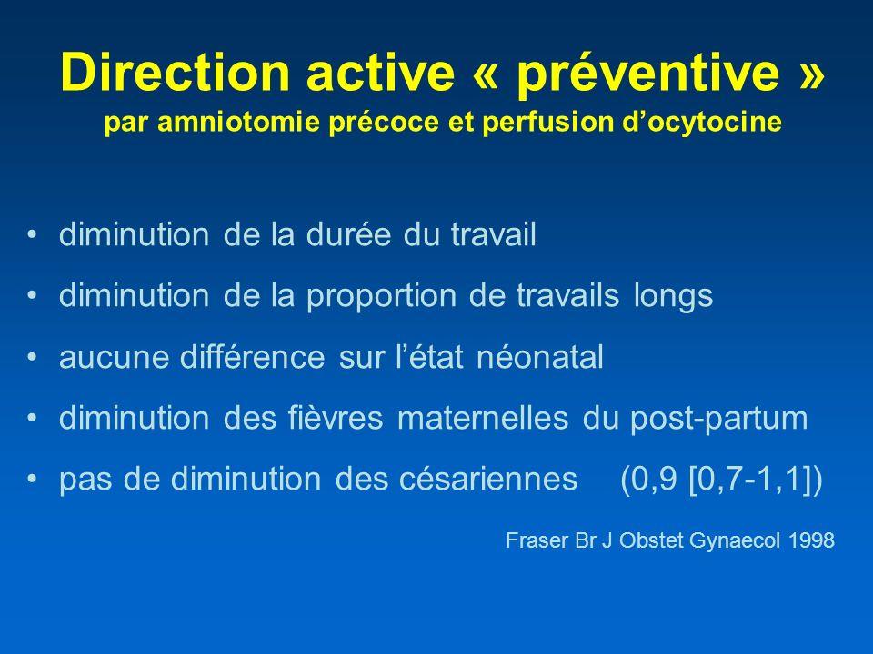 Direction active « préventive » par amniotomie précoce et perfusion d'ocytocine