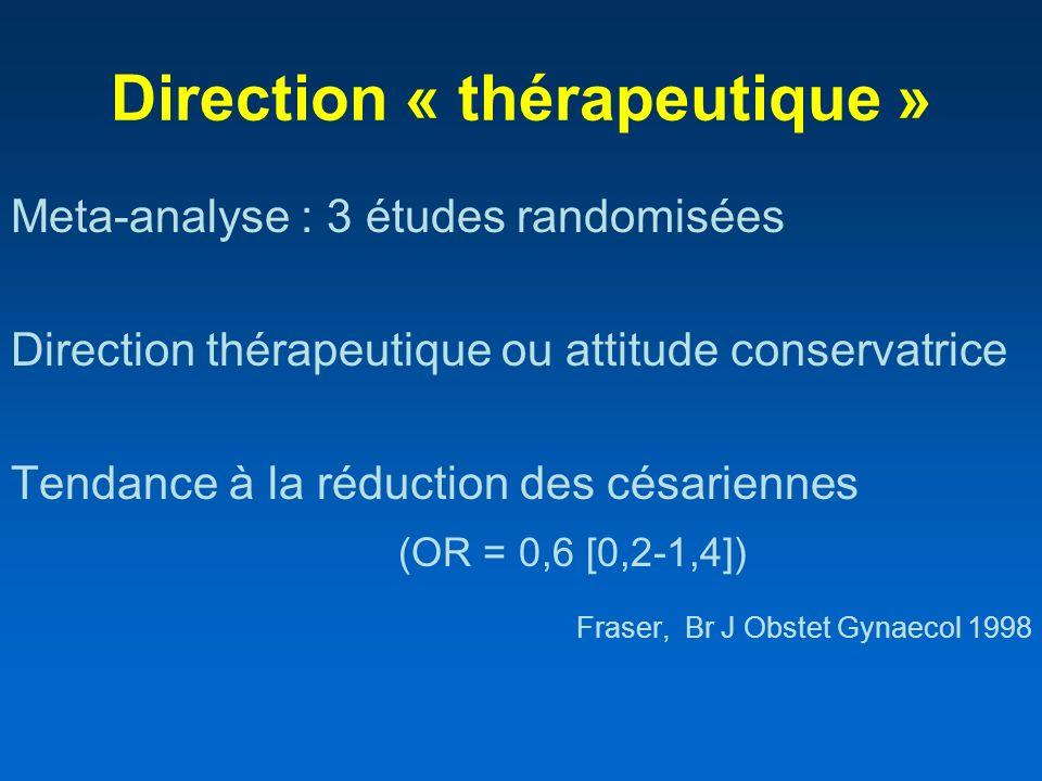 Direction « thérapeutique »