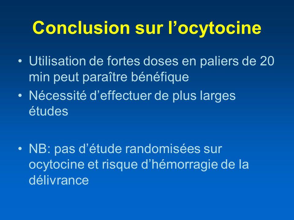 Conclusion sur l'ocytocine