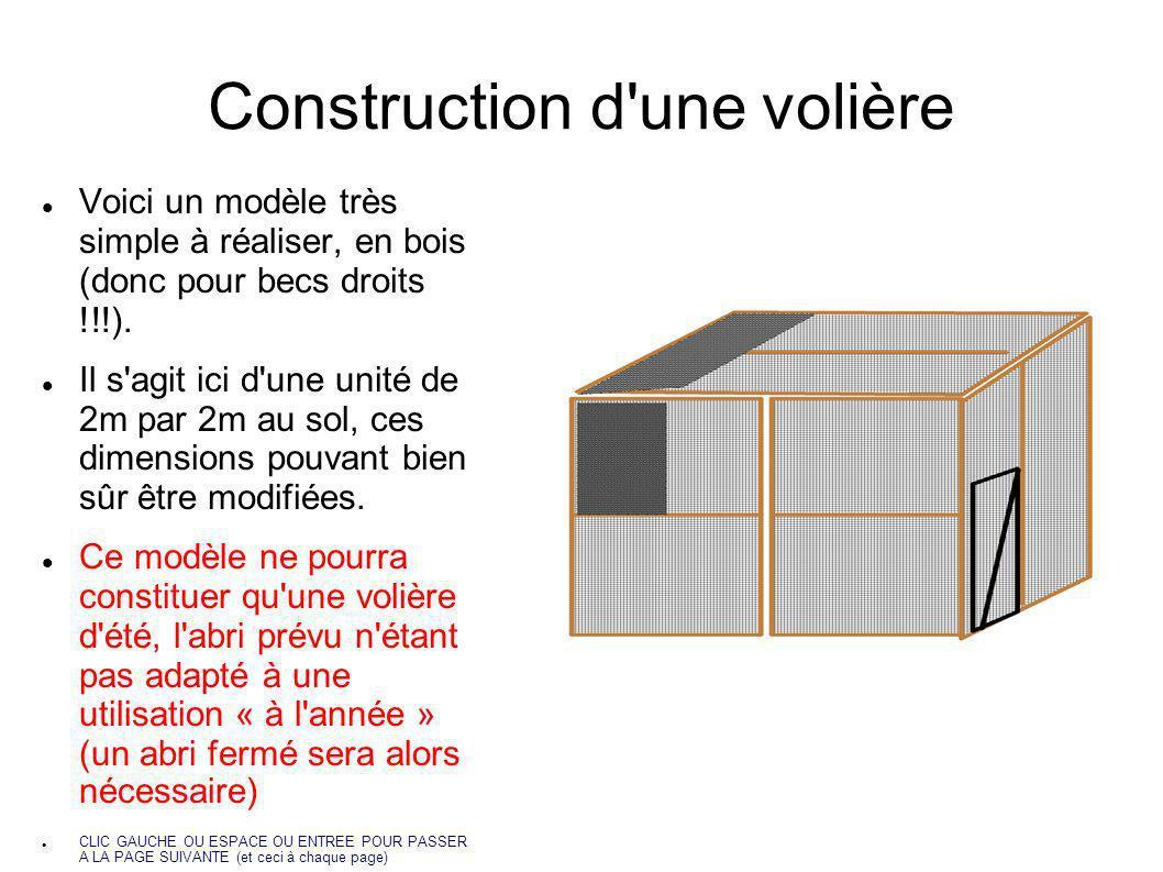 Construction d une volière