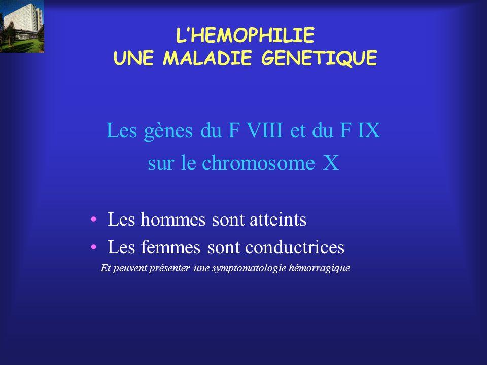 L'HEMOPHILIE UNE MALADIE GENETIQUE