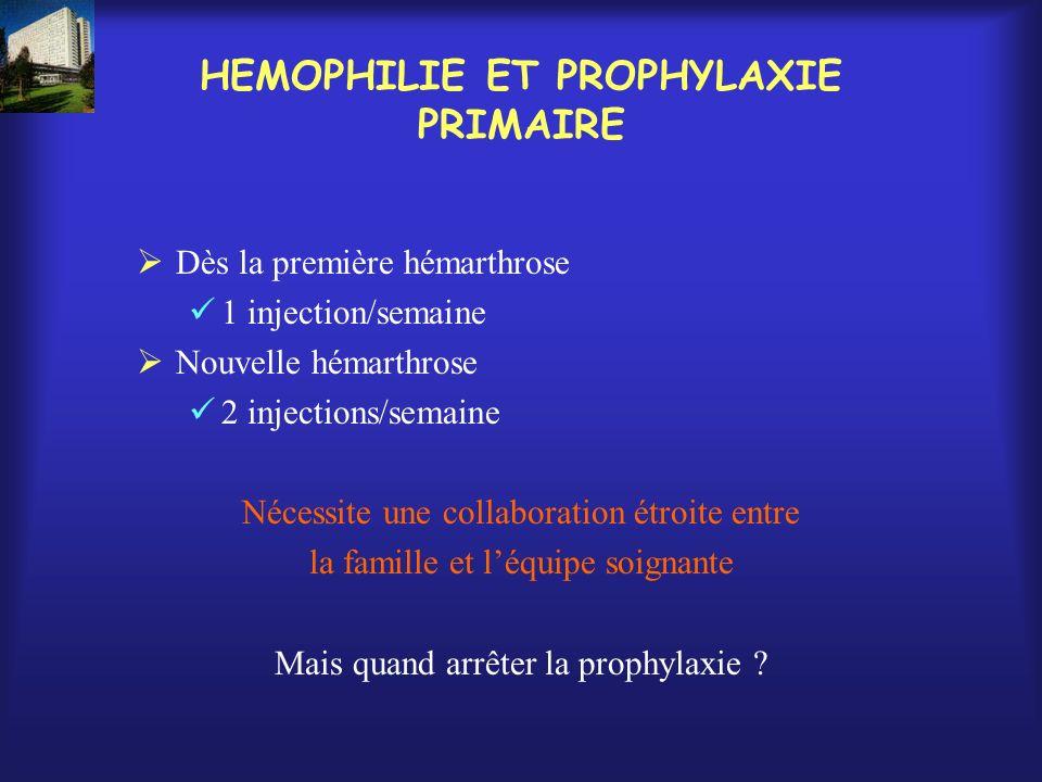 HEMOPHILIE ET PROPHYLAXIE PRIMAIRE