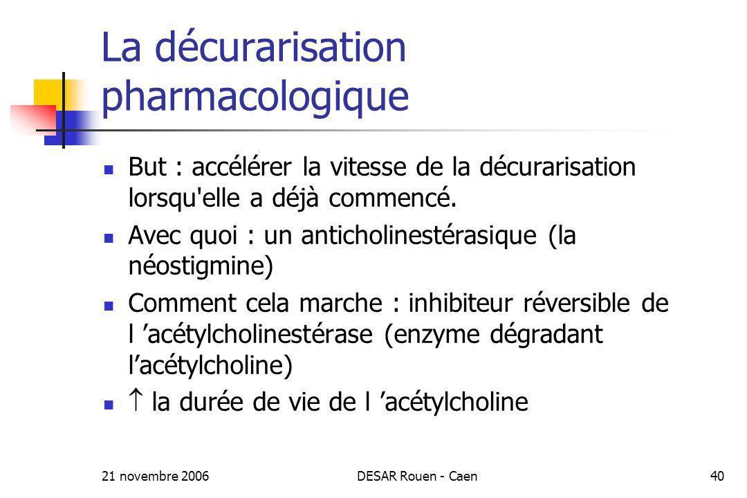 La décurarisation pharmacologique