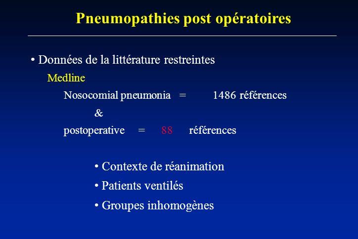 Pneumopathies post opératoires