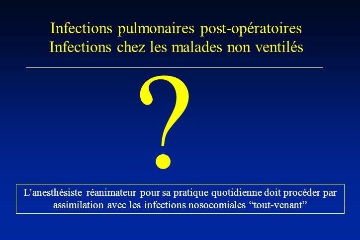 Infections pulmonaires post-opératoires