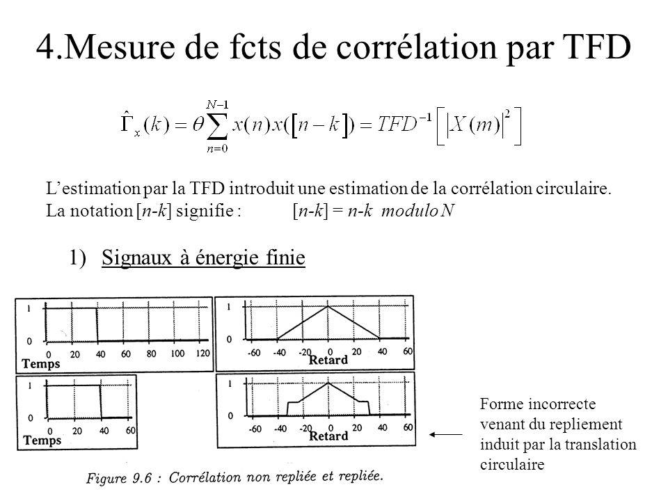 4.Mesure de fcts de corrélation par TFD
