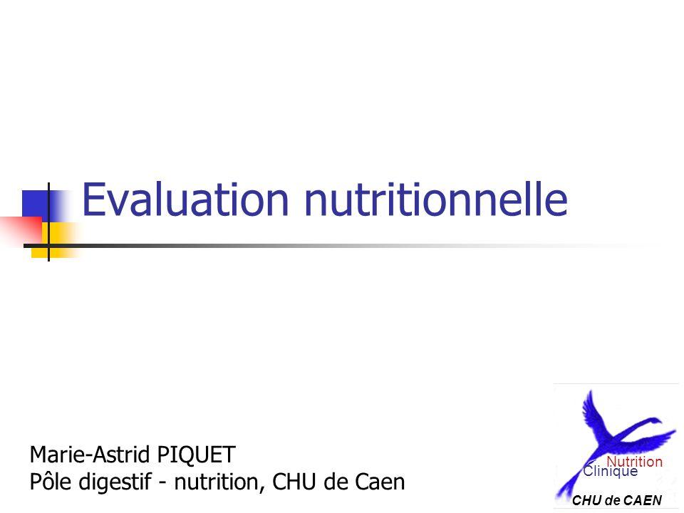 Evaluation nutritionnelle