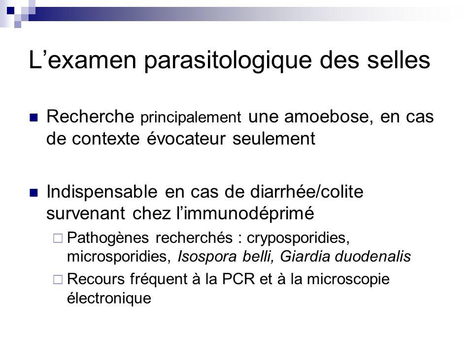 L'examen parasitologique des selles